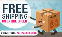 Purchase any Abgent Product, get free shipping on your entire order. Use code <span class=text-red>SHIP4FREE2016</span>.