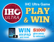 "Play the ""IHC Ultra"" game for a chance to win an iPad mini or Amazon gift card"