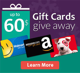 Gift Cards give away