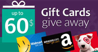Abgent gives away a gift crads up to $60 value.