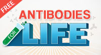 Purchase any antibody using the code <strong class=fc-um>ABS4LIFE</strong> for a chance to winFree Antibodies for Life!