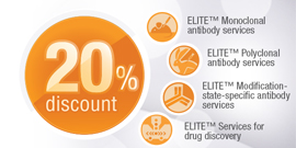 ELITE Custom Antibody Services 20% off