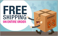 Purchase any Abgent Product and get free shipping on entire order.